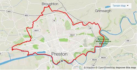 Guild Wheel Map The Guild Wheel Walkers: hiking city to country in 21 miles | RSM UK Guild Wheel Map