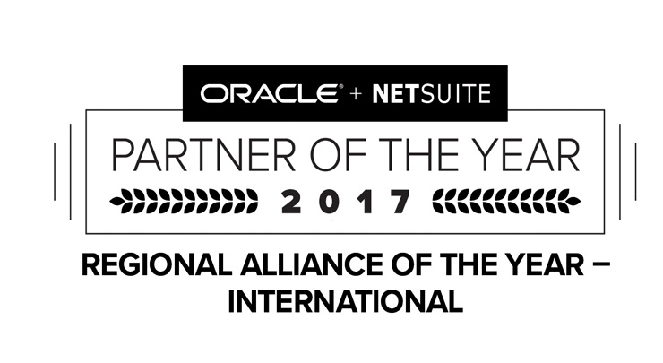 Netsuite Regional Alliance of the Year logo