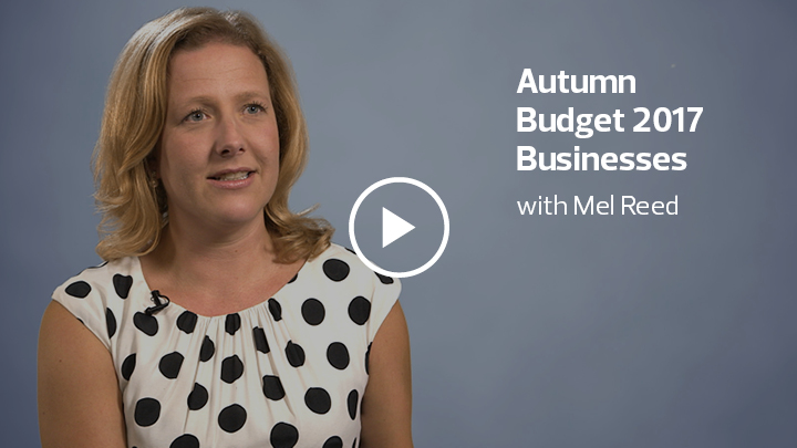 Autumn Budget 2017 with Mel Reed
