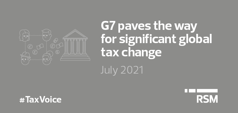 G7 paves the way for significant global tax change