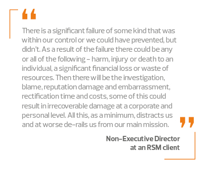 Quote from a non-executive director of an RSM client