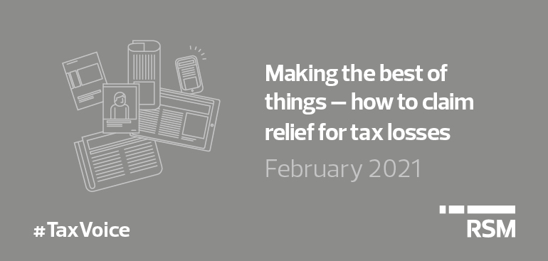 Claim relief for tax losses