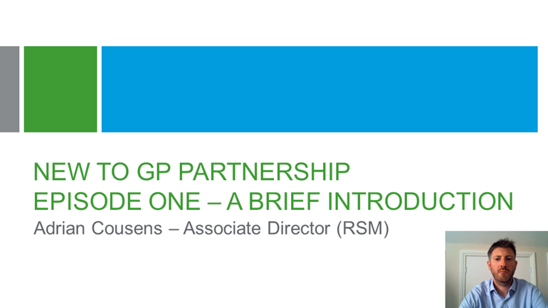 Brief introduction new to GP partnership