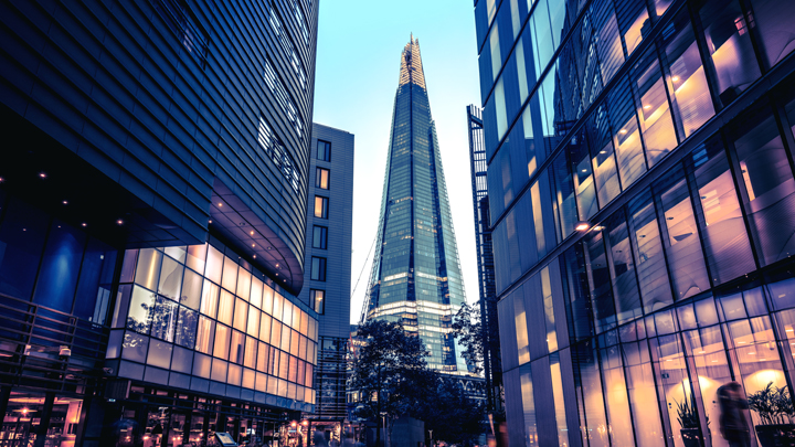 london shard at night