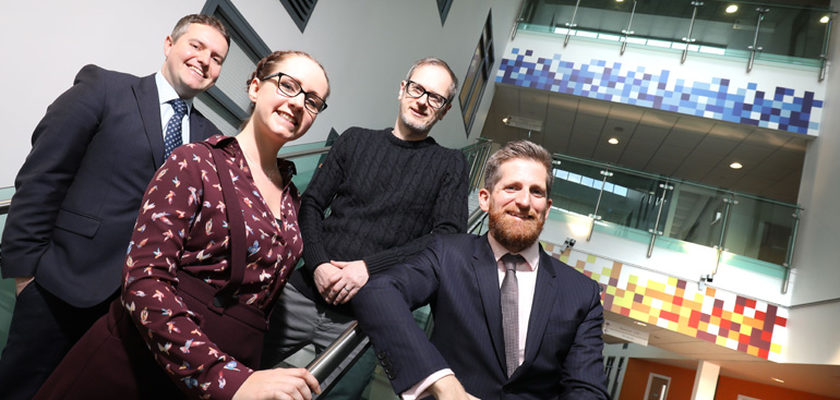 RSM's Steven Brown and Richard Urron with Jeni Banks and Billy Webber from Sunderland Software City