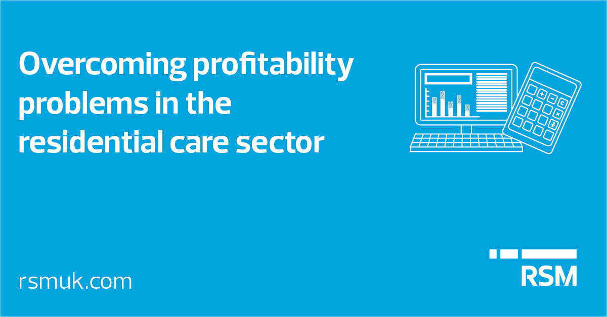 Overcoming profitability problems in the residential care sector