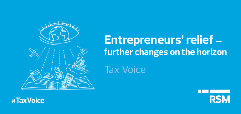 Entrepreneurs relief further changes