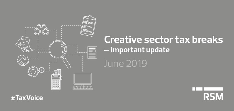 Creative sector tax breaks important update