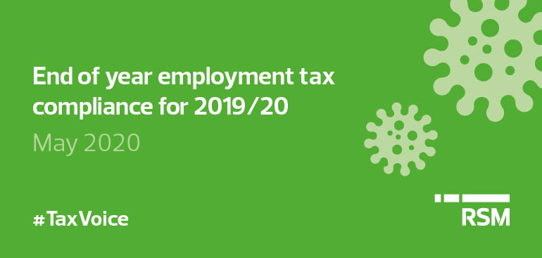 End of year employment tax compliance for 2019/20
