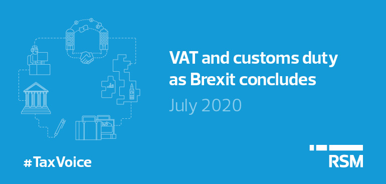 Tax Voice July 20208 - VAT and customs duty at Brexit concludes