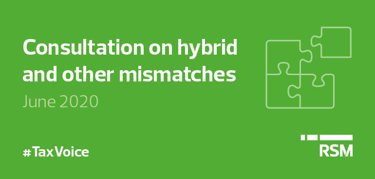 Consultation on hybrid and other mismatches